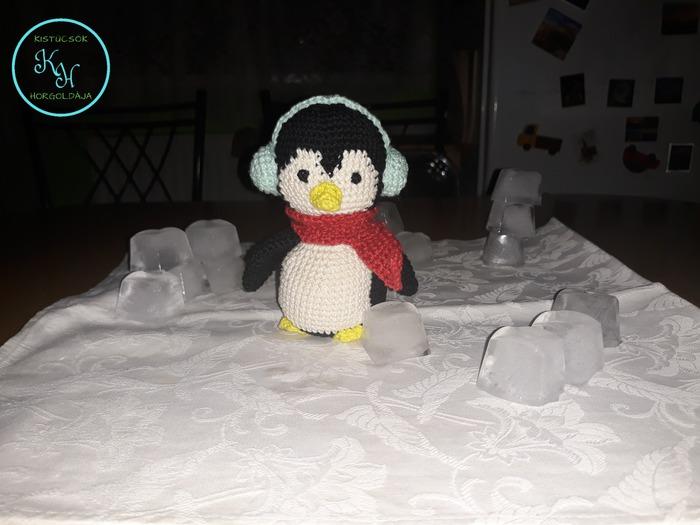 horgolt pingvin