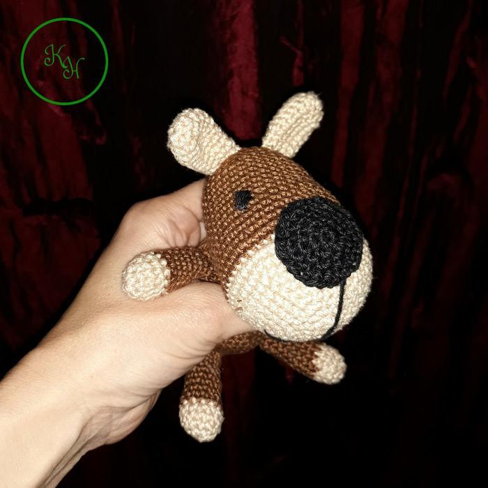horgolt kutya