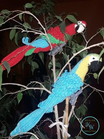horgolt madár