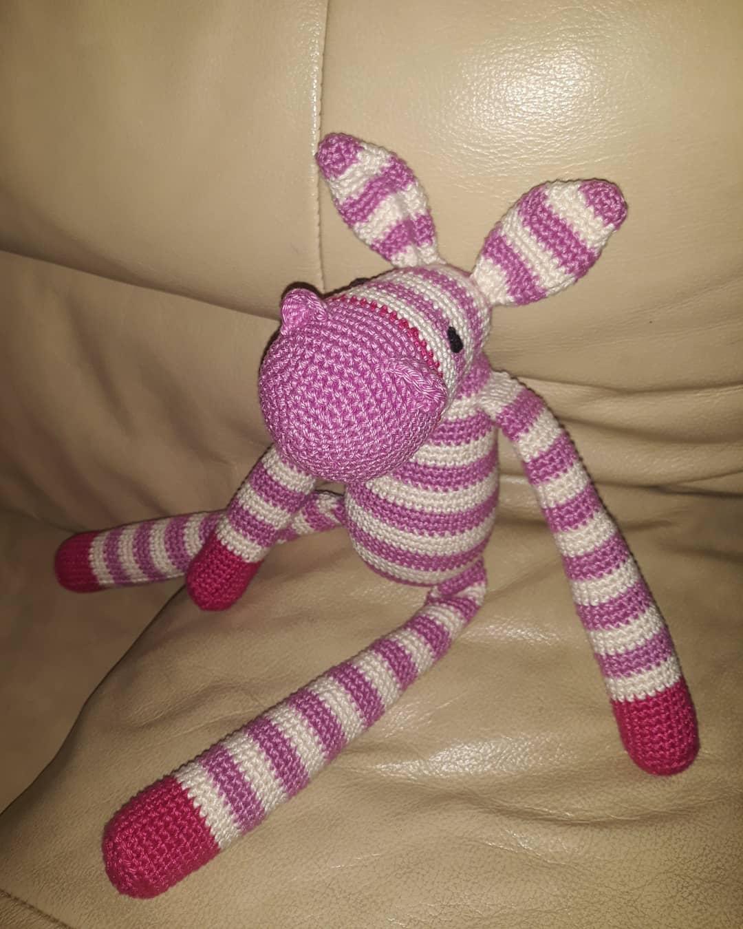 horgolt zebra